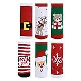 Calze Boy Girl Bambino per Natale Warm Thickening Cotton con Fun Pattern per Winter Boys Girls 3/6 Pairs (C)