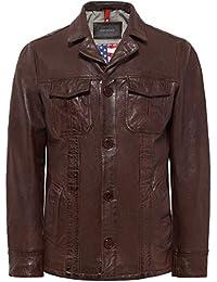 Oakwood Hombres chaqueta de cuero de Jagger Whisky