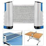 Reti da Ping-Pong, QuetaReti Islanda Net Set TT Portatile da Tavolo Supporto da Viaggio Portatile da Tavolo Net - Lunghezza Regolabile 175 (Max) x 14,5 cm