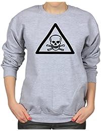 Poison Symbol Skull And Bones Womens Sweatshirt