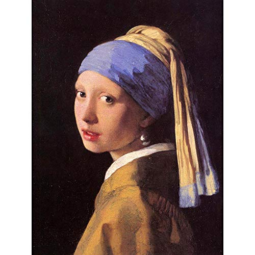Wee Blue Coo LTD Johannes Vermeer Girl with Pearl Earring Old Master Painting Art Print Poster Wall Decor Kunstdruck Poster Wand-Dekor-12X16 Zoll -