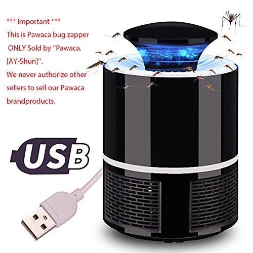 Pawaca LED-Moskito-Mörderlampe ohne Strahlung, USB angetriebener ungiftiger UV-LED-Insekten-Mörder, elektronische Moskito-Falle-Lampe, Wanzen-Zapper mit umweltfreundlichem für Innen
