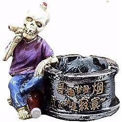 Calavera Decoración Estatua Horror Cenicero fumar