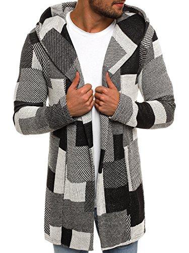 OZONEE Herren Sweatshirt Kapuzenpullover Hoodie Pullover NORTH 3501 XL GRAU