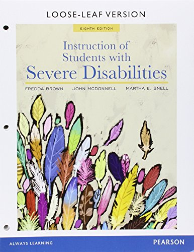 Instruction of Students with Severe Disabilities, Pearson eText - Access Card por Martha E. Snell