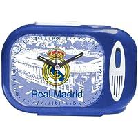Seva Import Himno Real Madrid 706079 Despertador Rectangular, Color Negro, única (9102020)