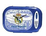 Seva Import Himno Real Madrid 706079 Despertador Rectangular, Negro, Única