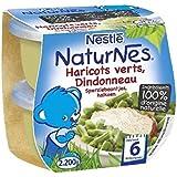 Nestlé Naturnes haricots verts dindonneau 2x200g dès 6 mois - ( Prix Unitaire ) - Envoi Rapide Et Soignée