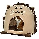"""nanook """"Sweety"""" Katzenhöhle I Hundehöhle mit Extra Dickem Kissen - Rutschfeste Höhle für Katzen und Kleine Hunde"""