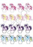 16 My Little Pony essbaren Kuchendeckel Dekorationen