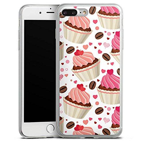 Apple iPhone 8 Plus Slim Case Silikon Hülle Schutzhülle Torte Kuchen Cake and Coffee Silikon Slim Case transparent