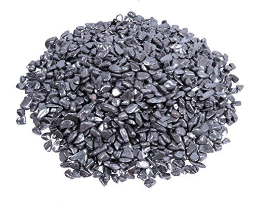 Hämatit Mini Trommelsteine 100 gramm Chips 5 mm Durchmesser