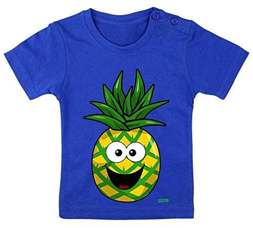HARIZ Baby T-Shirt Ananas Lachend Früchte Sommer Plus Geschenkkarte Royal Königs Blau 3-9 Monate / 60-69cm