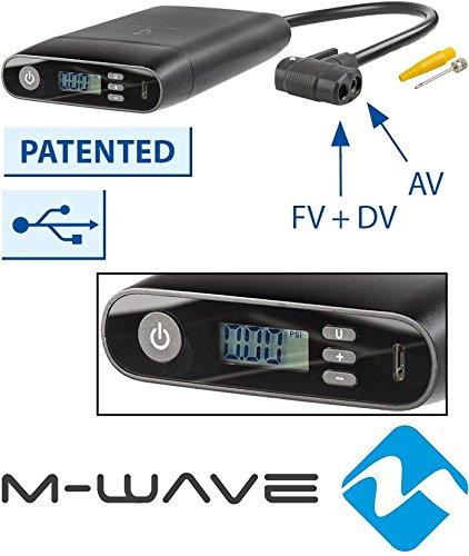 M-Wave Elumatik USB Akku-minipumpe, schwarz, One Size
