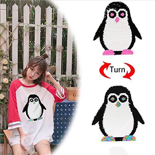 Niedlicher Pinguin-Aufnäher zum Aufnähen von Kleidung, Tasche, Kleidung, Jacke, Pullover, Basteln