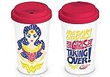 DC Comics MGT24116 DC Super Hero (Girls are Taking Over) Travel Mug, Céramique, Multicolore, 11oz/315ml