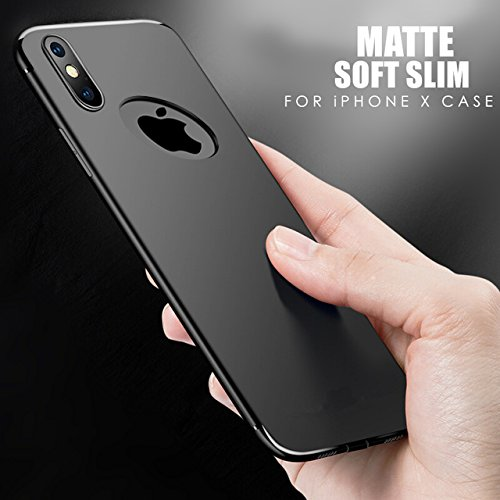 Amozo Dust-free Plug Shockproof Slim Anti Slip Back Cover Case for Apple iPhone X