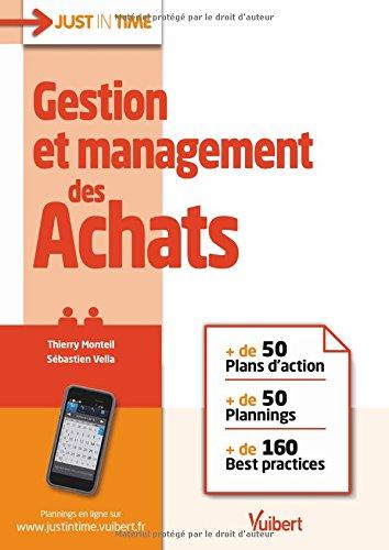 Gestion et management des Achats - + de 50 plans d'action & plannings et + de 160 best practices