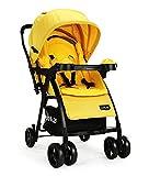 LuvLap Joy Stroller/Pram, Compact and Easy Fold, for Newborn Baby/Kids, 0-3 Years (Yellow)
