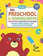 Big Preschool & Kindergarten Workbook for Kids 2 to 5 year olds - Alphabet, Numbers, Colors, Shapes | Earl