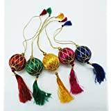 [Sponsored]EKAM EK- Handmade Christmas Decorations Ornaments Made Of Satin Thread Small Size Set Of 4 PCs.