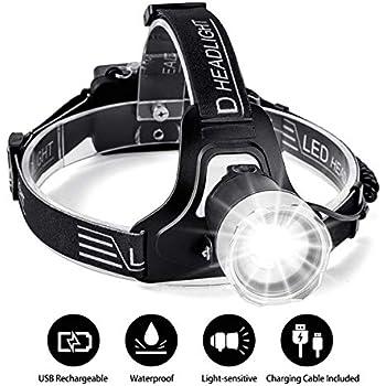 8Modes Head LED Headlamp Head Torch,SGODDE 7 LED 5500LM Super Bright Headlight