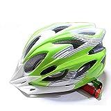 WYNZYTK Casco da Ciclismo, Casco da Pattinaggio A Rotelle, Pattinaggio/Pattini A Rotelle/Skateboard / Protezione Testa Equilibrio Opzionale (Colore : Green)