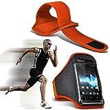 ( Orange ) Yezz Monaco 4.7 bei hoher Qualität ausgestattet, Armbinden Sport Laufen Radfahren Bike Fitness Jogging befreien Armband hülle, Case von i-Tronixs