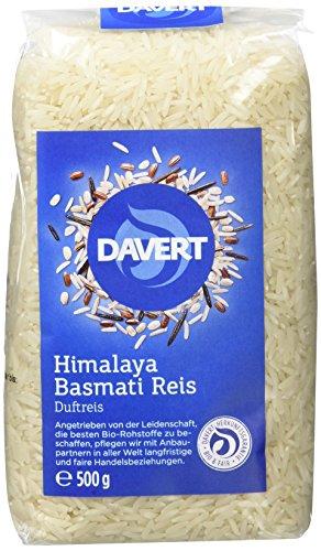 Davert Himalaya Basmati Reis weiß, 4er Pack (4 x 500 g) – Bio