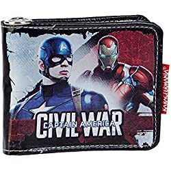 Karactermania 52859 Capitán América Civil War Monedero, 12 cm, Negro