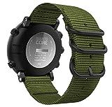 MoKo für Suunto Core Smart Watch Armband, NATO Nylon Uhrenarmband Ersatzarmband Handgelenk Band Strap für Suunto Core Smart Watch Armbandlänge - Armee Grün