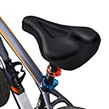 MPTECK @ Silikon Gelüberzug für den Fahrradsitz Komfort Kissen-Auflage Fahrradsattel Überzug Gelpolster Sattelbezüge fahrradsitz Fahrradsattel Sattelschutz für Mountainbike-Sitze und Rennradsättel Spinning und Indoorcycling