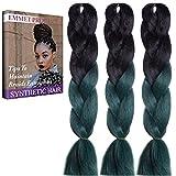 Jumbo Braids-Premium Qualität 100% Kanekalon Braiding Haarverlängerung Full Bundles 100g / pc Synthetik Haar Ombre 24Inch 3Pcs / lot Hitzebeständig, lange Zeit mit-37 Farben 2Tone & 3Tone, Garantie 1 Woche ändern oder Rückerstattung