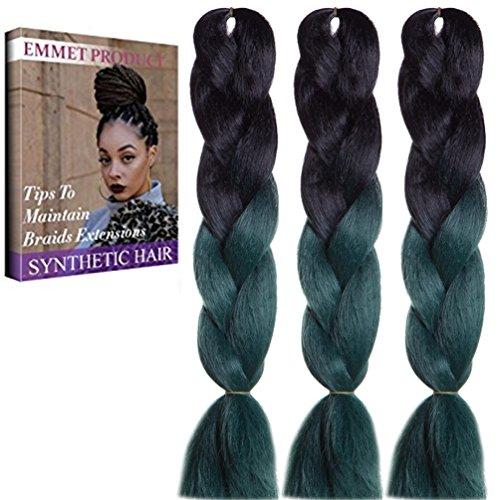 Jumbo Braids-Premium Qualität 100% Kanekalon Braiding Haarverlängerung Full Bundles 100g / pc Synthetik Haar Ombre 24Inch 3Pcs / lot Hitzebeständig, lange Zeit mit-37 Farben 2Tone & 3Tone, Garantie 1 Woche (Kind Indischen Kostüm)