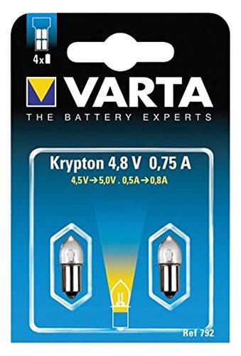 Varta 792 Glühlampe Stecksockel 4,8V 0,75A 2er Pack -