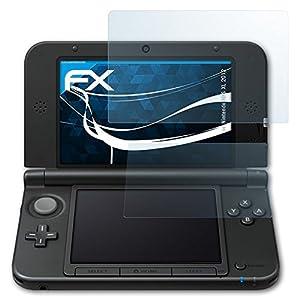 atFoliX Schutzfolie kompatibel mit Nintendo 3DS XL 2012 Folie, ultraklare FX Displayschutzfolie (3er Set)