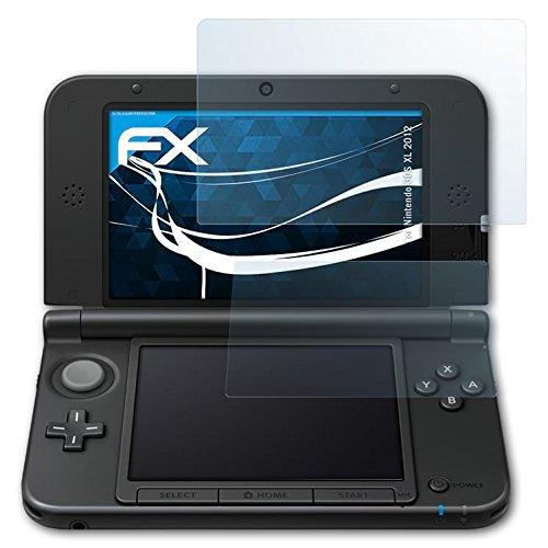 atFoliX Displayschutzfolie für Nintendo 3DS XL (2012) Schutzfolie - 3er Set FX-Clear kristallklare Folie