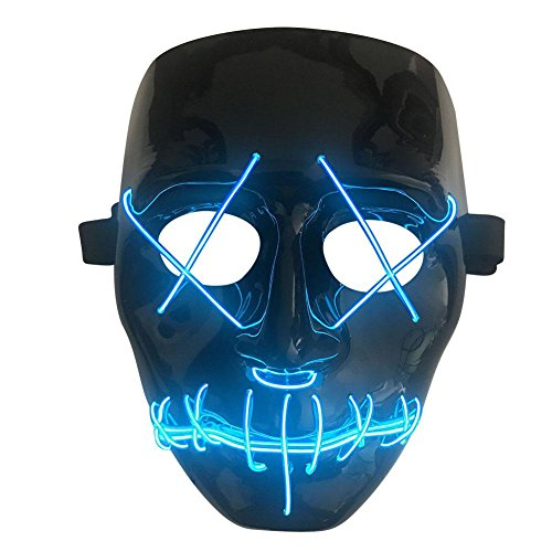 Gorgebuy Máscara de Halloween LED Light Up Purge Mask para Festival Cosplay Disfraz de Halloween