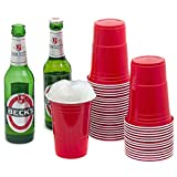 Rote Partybecher Trinkbecher (100 Stück) ★16 oz★ Rote Beer Pong Party Cups Einwegbecher