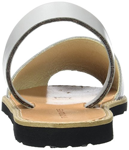 Minorquines Avarca, Scarpe Col Tacco con Cinturino a T Donna Gris (Perla)