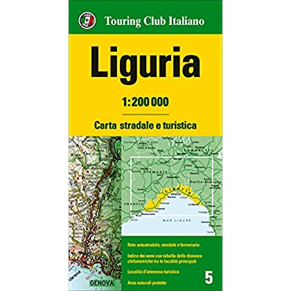 Liguria 1:200.000. Carta Stradale E Turistica [Lingua Inglese]