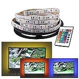 XZZ LED-Leuchten mit Dekoration, 5V wasserdichtes weiches Licht mit farbigem Hintergrund 2 Meter USB-Port TV-Leuchten mit TV-Familientreffen