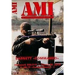 MAGAZINE INTERNATIONAL DES ARMES du 01/11/1985 - BARNETT COMMANDO HAMMERLI 208 - 215 TAURUS 96 .22 LR AR-15 COMBAT READY CARABINE SCOLAIRES.