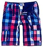 Rock Creek Herren Karoshorts Bermuda Hose CAGO-Shorts Sommer Hose Kurz Shorts Herrenshorts H-158 XL Blue8