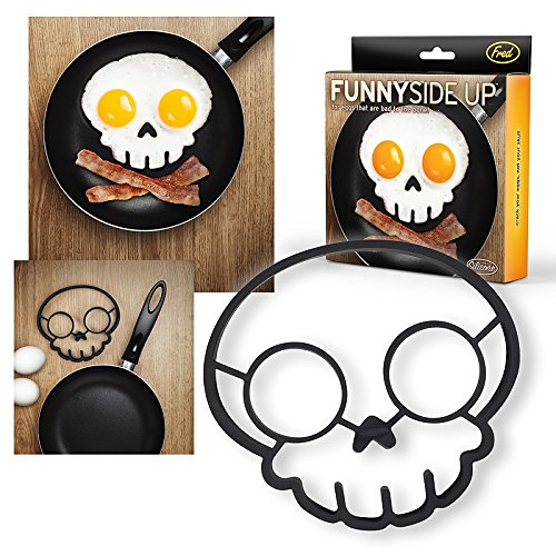 Official Fred & Friends Funny Side up Egg Mould Skull by Fred & Friends