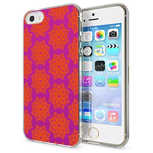 iPhone SE 5 5S Hülle Handyhülle von NICA, Slim Silikon Motiv Case Schutzhülle Dünn Durchsichtig, Etui Handy-Tasche Back-Cover Transparent Bumper für Apple iPhone 5 5S SE, Designs:Deer Royal Ornament