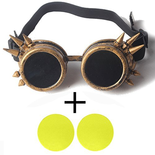 FIRSTLIKE retro steam punk angle glasses Halloween costumes play dance party accessories color lens