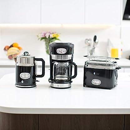 Russell-Hobbs-Glas-Kaffeemaschine-Retro-Classic-Noir-Retro-Brh-und-Warmhalteanzeige-schwarz