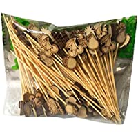 [Frutas] 100 piezas de bambú partido lindo Suministros Cóctel desechables Selecciones escoge la fruta