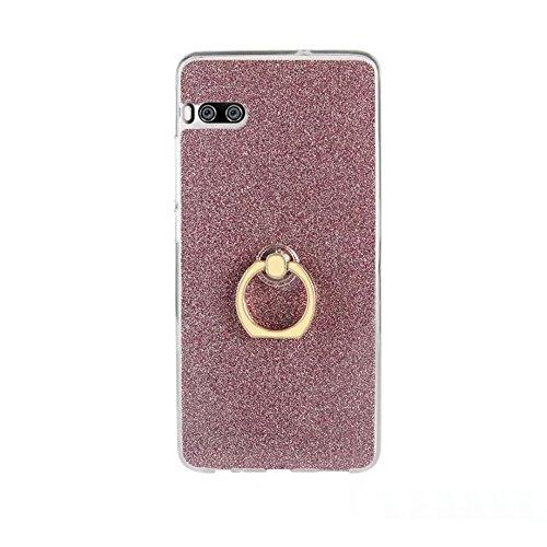 EKINHUI Case Cover Soft Flexible TPU Back Cover Case Shockproof Schutzhülle mit Bling Glitter Sparkles und Kickstand für Meizu Meilan PRO 7 ( Color : Pink ) Pink